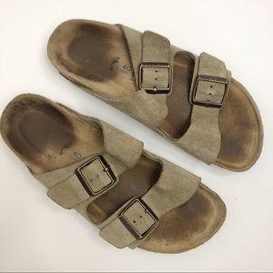 Birkenstock Arizona Taupe Suede Sandals L9 M7
